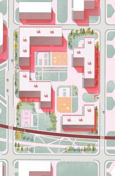 Super Landscape Architecture Design Diagram Urban Planning Ideas – Famous Last Words Landscape Architecture Model, Architecture Graphics, Architecture Drawings, Architecture Plan, Landscape Design, Architecture Diagrams, Masterplan Architecture, Architecture Collage, Architecture Student