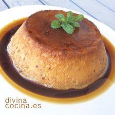 Flan de café en microondas - Divina Cocina