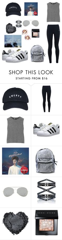"""dark skies"" by the-dreamer-collection ❤ liked on Polyvore featuring NIKE, Topshop, adidas Originals, Acne Studios, Eva Fehren, Bobbi Brown Cosmetics and Martha Stewart"