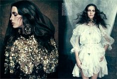 October 2012, Marine Vacth. Photos by Paolo Roversi - click on the photo to see the complete story and backstage video