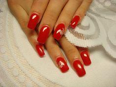 paznokcie czerwone ze złotym - Szukaj w Google