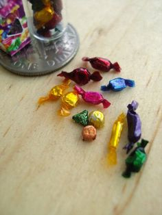 Miniature Chocolates wrapped 1-12 by ~Snowfern on deviantART