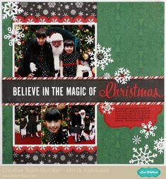 An Echo Park Christmas Cheer layout by Mendi Yoshikawa - Scrapbook.com