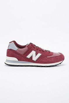 New Balance 574 Classic Runner Trainers in Burgundy #shoes #offduty #covetme #newbalance