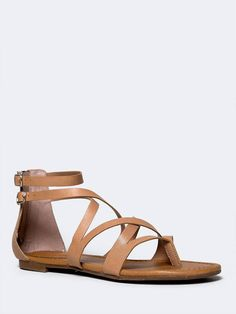 8fad28d384df These strappy sandals are perfect for any setting! - Flat gladiator sandals  have a