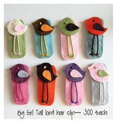 She sells the most adorable, hand-embroidered hair clips! She sells the most adorable, hand-embroidered hair clips! She sells the most adorable, hand-embro Felt Hair Clips, Bow Hair Clips, Hair Bows, Felt Diy, Felt Crafts, Felt Flowers, Fabric Flowers, Felt Hair Accessories, Barrettes