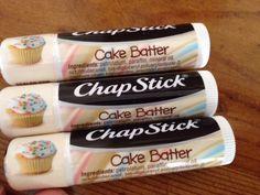 3 Chapstick Lip Balm CAKE BATTER New Chap Stick Party Cupcake Creations Gloss #ChapStick