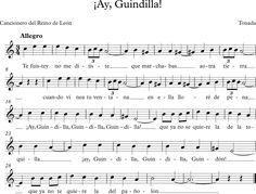 ¡Ay, Guindilla!. Cancionero del Reino de León. Tonada.