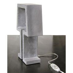betonnen lampje silhouet