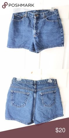 High waisted jean shorts Size says 14, but I'm a 10-12 in jeans and it's a tad too small for me! Waist measurement: 16 inches Shorts Jean Shorts