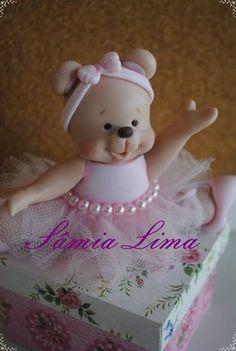 Samia Lima Artes: Ursa Bailarina em biscuit