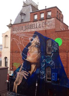 Street art collaboration : Adnate and TwoOne Fitzroy off Johnstone Street, Melbourne, 2014 TwoOne is on Tumblr: @hiroyasutsuri-twoone photos by David Russell