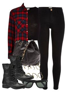 """""""Style #8630"""" by vany-alvarado ❤ liked on Polyvore featuring River Island, Chanel, ASOS, Steve Madden and Ray-Ban"""