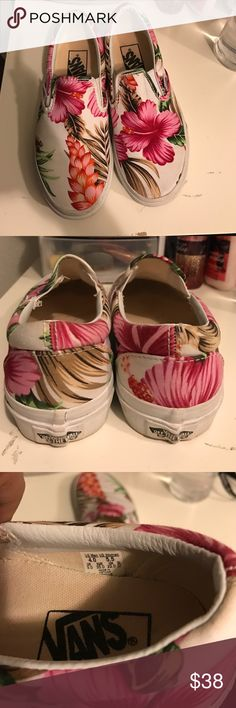 Hawaiian Slip On Vans I bought off here recently, but sadly It did not fit me Vans Shoes Sneakers