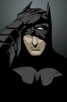 Batman taking off the mask