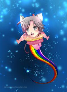 --Gijinka Project: Nyan Cat -- by Kurama-chan Disney Minecraft, Minecraft Pixel Art, Minecraft Crafts, Creeper Minecraft, Minecraft Cake, Minecraft Skins, Minecraft Buildings, Dark Disney, Nyan Cat