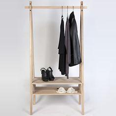 Toj, the Scandinavian style exposed wardrobe created by the Danish designer Viktor Rolf Olesen.