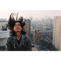 @zhaopower pre-haircut days. From Jmarts roof in #puxi #shanghai #zaishanghai #livingshanghai taken with the #35mm #xg7 by 35millimeador