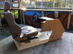 racing simulator chair plans reading nook 57 best cockpit diy images gaming flight home căutare google seats wheel setup