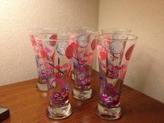 Custom Diva Golf Girl Pilsner Glasses by Vinylmeplease on Etsy, $26.95