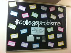 #collegeproblems bulletin board. Found the college problems at collegeproblems.org. Bulletin boards, Resident Advisor, Resident Assistant, ResLife, Residence Life