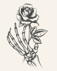 Latest Totally Free hand holding rose drawing Style Within this session, we're going to have a look at the way to draw your increased by together with pastels. Skeleton Hands Drawing, Skeleton Hand Tattoo, Drawing Hands, Skull Hand, Skeleton Art, Skeleton Bones, Art Drawings Sketches, Tattoo Drawings, Rose Drawings