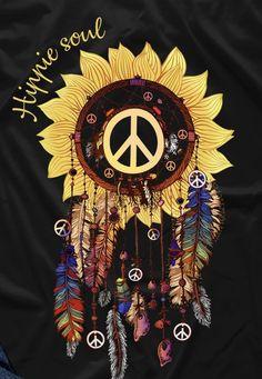 Hippie Peace, Happy Hippie, Hippie Love, Hippie Chick, Hippie Art, Sunflower Quotes, Sunflower Pictures, Sunflower Art, Sunflower Iphone Wallpaper