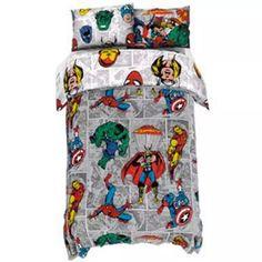 Buy Disney Marvel Reversible Bedding Set - Double | Kids bedding | Argos Double Duvet Covers, Disney Marvel, Argos, Duvet Sets, Bed Sizes, Kids Bedroom, Bedding, Pillowcases, Comic