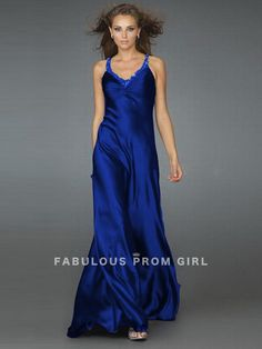 Sheath / Column Straps Beading  Sleeveless Floor-length Elastic Woven Satin Prom Dresses / Evening Dresses