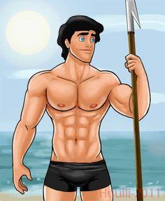 Spear Fishing Hot Anime Guys, Hot Guys, Hot Men, Prince Eric, Art Of Man, Cartoon Images, Disneyland, Disney Characters, Fictional Characters