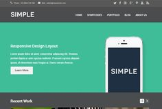 Simple wordpress themes goes by its name a simple wordpress theme with enough features and options to get your satisfaction a big boost. Sim...