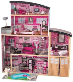 KidKraft Sparkle Mansion DOLLHOUSE, 30 Pieces Detailed Doll Furniture  DOLLHOUSE