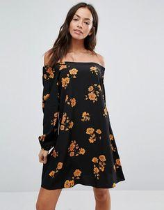 New Look Floral Bardot Dress