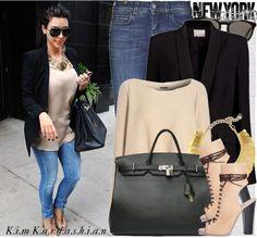 """Celebrity Look: Kim Kardashian"" by marymary91 ❤ liked on Polyvore"