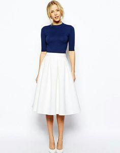 circle skirt and a 3/4 top