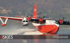 Watching This Fire Retardant Drop Run Will Make You Queasy Airplane Flying, Flying Boat, Amphibious Aircraft, Bush Plane, Flying Vehicles, Wildland Firefighter, Float Plane, Aircraft Photos, Zeppelin