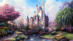 fantasy pictures of fairies | Fairy tale castle wallpaper - Fantasy wallpapers - #4042