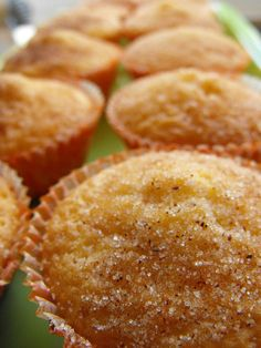 These muffins have the perfect combination of flavors. Made with fresh lemon zest and topped with cinnamon and sugar, these muffins will disappear quickly! Portuguese Desserts, Portuguese Recipes, I Love Food, Good Food, Yummy Food, Tasty, Orange Recipes, Sweet Recipes, Cupcakes
