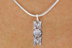 Volleyball Mom Crystal necklace, another unique piece of volleyball jewelry by GymRats Volleyball necklaces, bracelets, and earrings. Volleyball Jewelry, Volleyball Outfits, Volleyball Mom, Cat Necklace, Silver Chain Necklace, Crystal Necklace, Austrian Crystal, Anklets, Jewelry Gifts