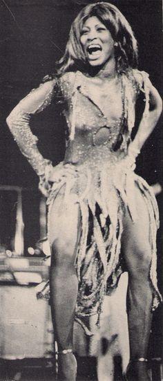 Tina Turner in the Tivoli Gardens, Copenhagen november 1974