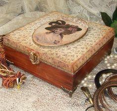 "Boxes handmade. Fair Masters - handmade. Buy Stash retro ""Memory of the past"" RESERVE. Handmade. Maroon"