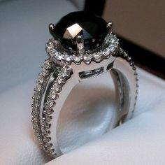Black diamond wedding ring.