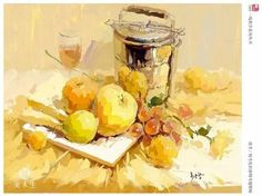 Still Life Sketch, Still Life 2, Fashion Painting, Ap Art, Gouache Painting, Color Yellow, Impressionist, Pastels, Watercolor Art