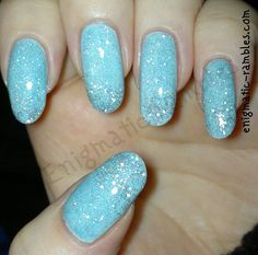 Frozen Icy Iced Nails