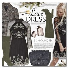 """""""Topshop"""" by barbarela11 ❤ liked on Polyvore featuring Topshop, Garance Doré, Jane Iredale, dress and topshop"""