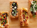 Ree Drummond is sharing her top five favorite things to do with puffed pastry, her secret weapon for entertaining made easy! First, Cheese Straws and Sausage Parmesan Palmiers are a duo of divine quick and easy canapes, then individual Beef Pot Pies are perfect for company. A quartet of Puff Pastry Pizza ideas definitely make it to the party circuit, and there's a thousand reasons to love her Marvelous Mille Feuille!