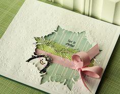 Danielle Flanders - Winter Penguin stamp and die; Damask Snowflake die; Peace Be Still IP.  Love this card.