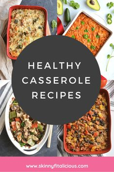 Healthy Casserole Recipes made lighter nutritious and gluten free. These healthy recipes are low sugar easy to make. Healthy Casserole Recipes made lighter nutritious and gluten free. These healthy recipes are low sugar easy to make. Healthy Casserole Recipes, Healthy Gluten Free Recipes, Healthy Dinner Recipes, Healthy Dinners, Healthy Low Calorie Meals, Low Calorie Recipes, Nutritious Meals, Turkey Casserole, Best Weight Loss Foods