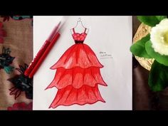 How To Draw A Dress 2017 - YouTube