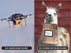 Llama delivery system - Who needs those pesky Amazon Drones <3 #welovePolkaSpot